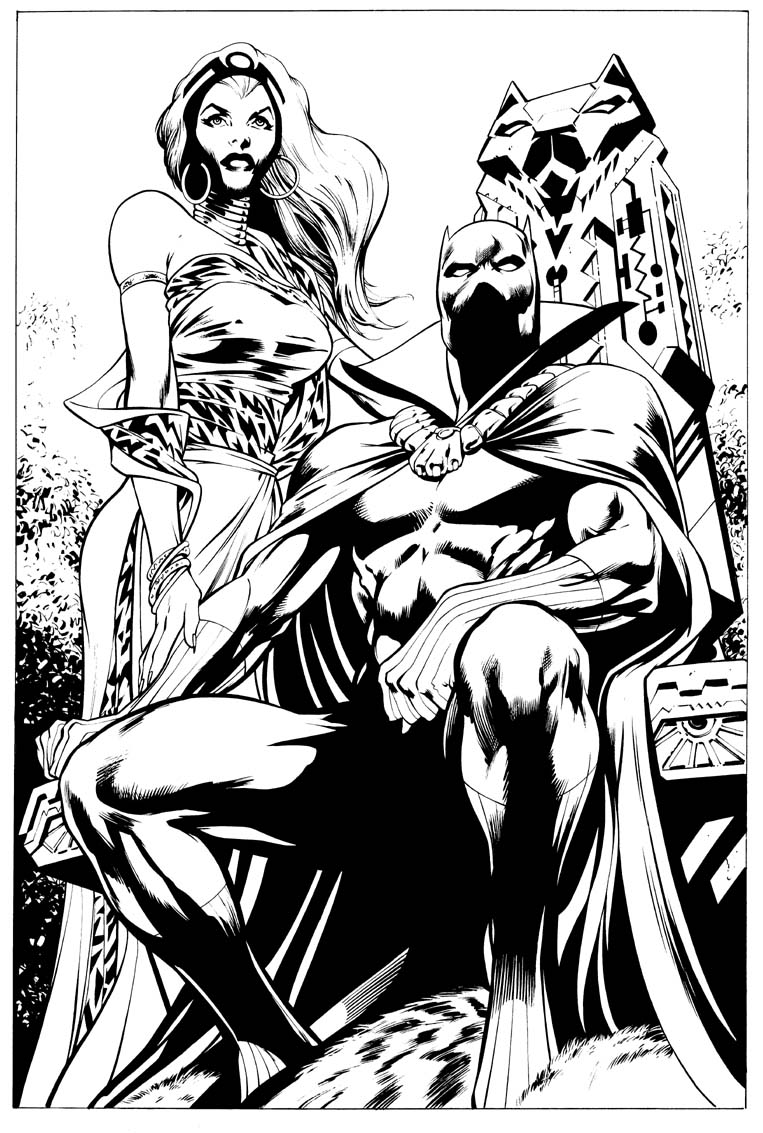 page 1 coloring pages - Black Panther Coloring Pages